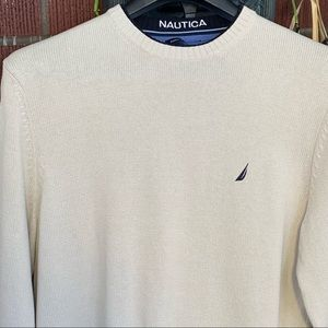 Nautica 100% Cotton Crew Neck Sweater EUC XL